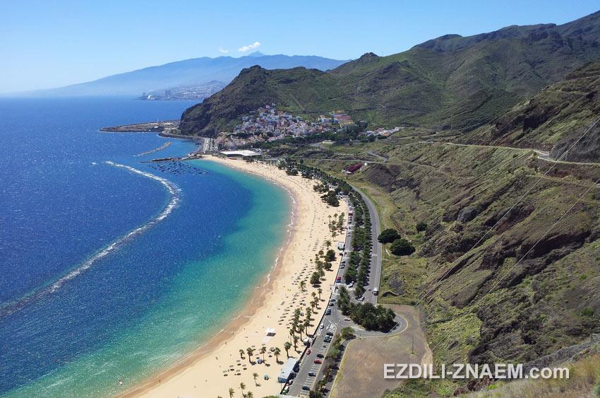 Пляж Плая-де-ла-Тереситас на острове Тенерифе