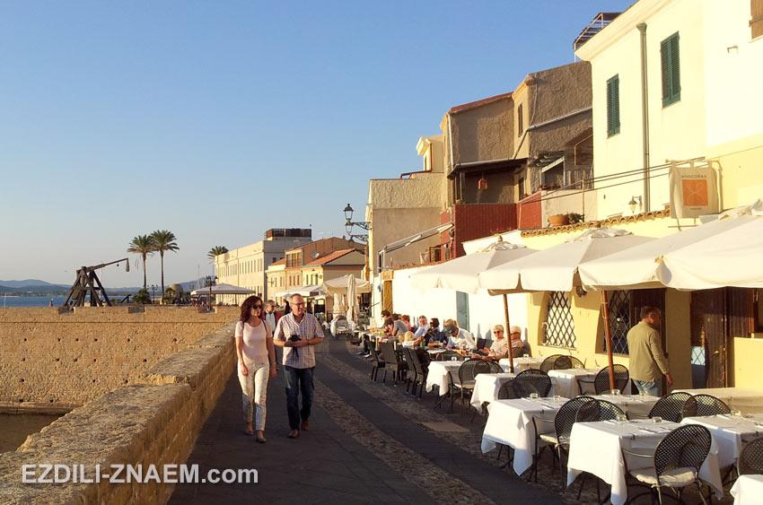 Ресторанчики с видом на закат, Альгеро