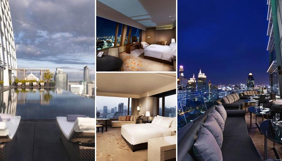 Отель Okura Prestige Bangkok c бассейном на крыше
