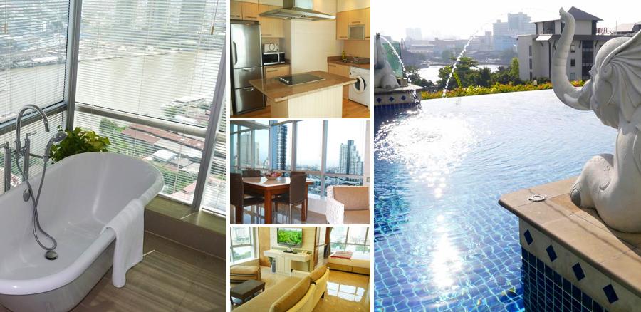АпартаментыBangkok Dream с видом на реку