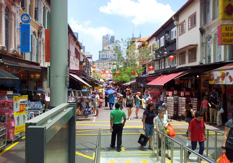 Улицы Чайнатауна в сингапуре