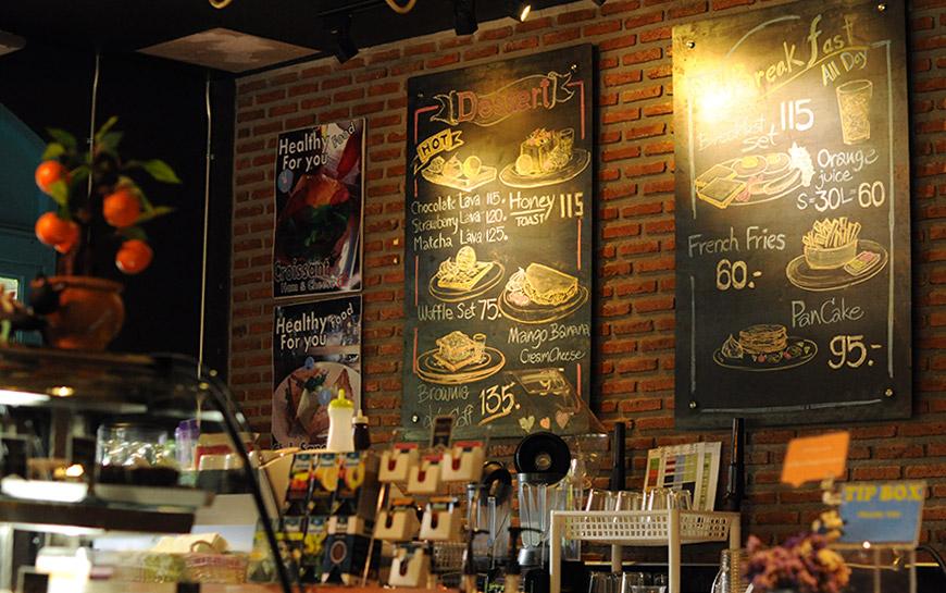Цены в кафе