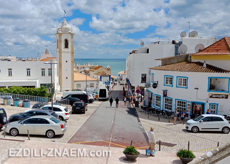 Городок Альбуфейра в Португалии