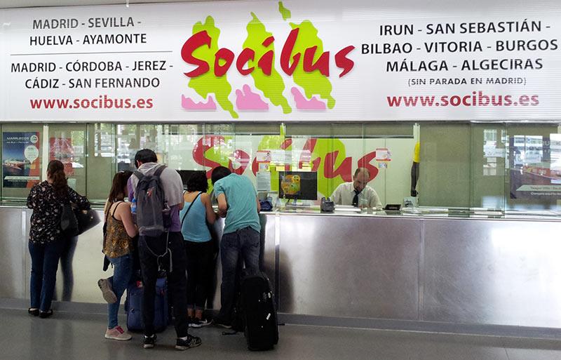 Билеты на автобус Socibus из Мадрида