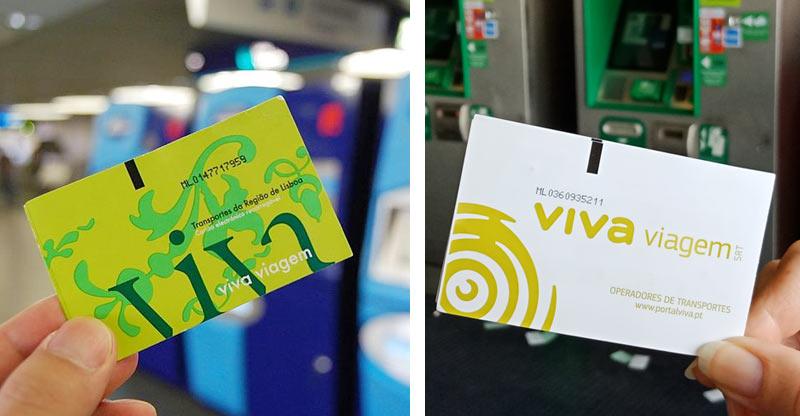 Транспортные карточки Viva в Лиссабоне