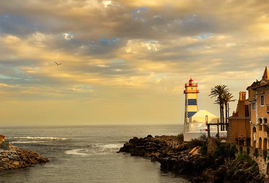 Кашкайш - красивый город в Португалии, недалеко от Лиссабона