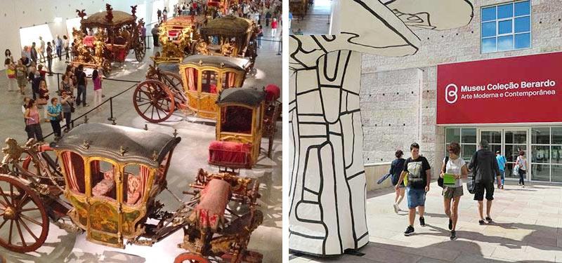 Что посмотреть в Лиссабоне? Самые популярные музеи Лиссабона - Музей Карет и музей современного искусства Берардо