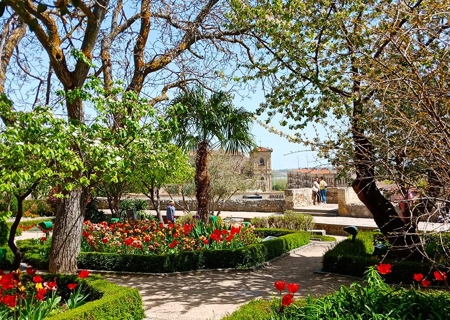 Саламанка в Испании: El Huerto de Calixto y Melibea - парк со смотровой площадкой