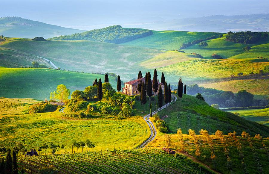 холмы Тосканы в Италии
