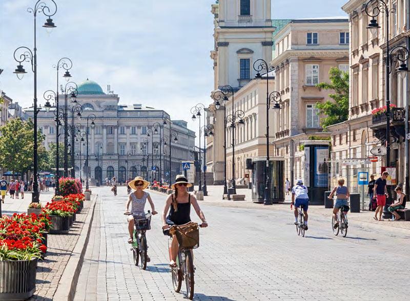 экскурсия по Варшаве на велосипедах