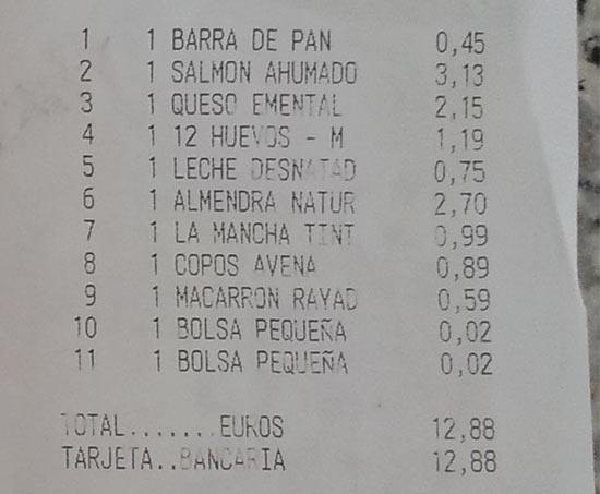 """Цены на продукты в супермаркете """"Mercadona"""" в Испании"""