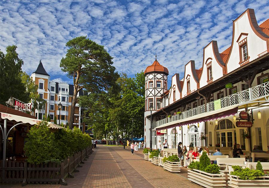 Красивый город Светлогорск рядом с Калининградом