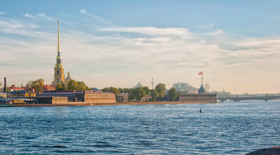 Вид на Петропавловскую крепость, Петербург