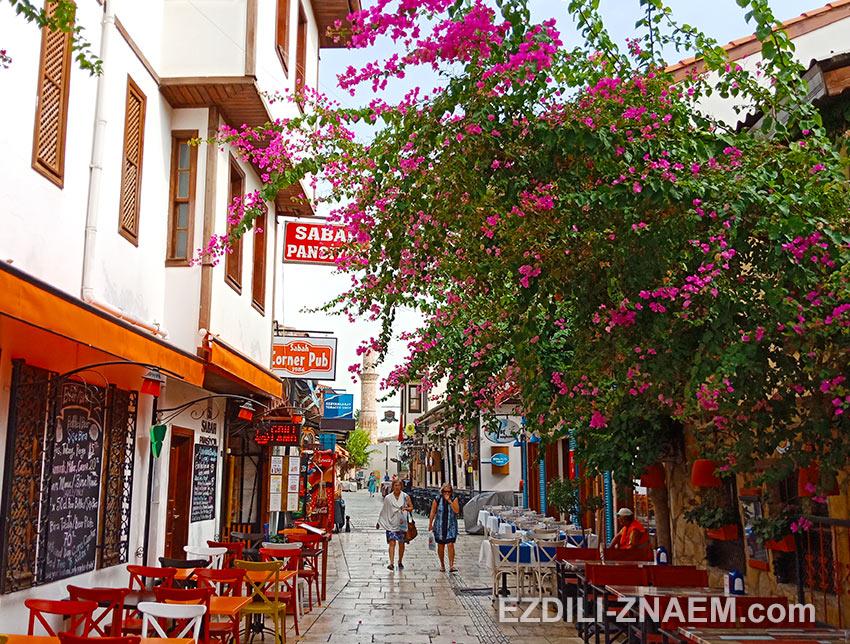 Прогулки по улицам старой Анталии, Турция