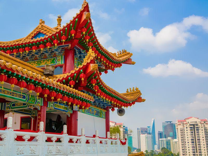 Китайский храм в Куала-Лумпур