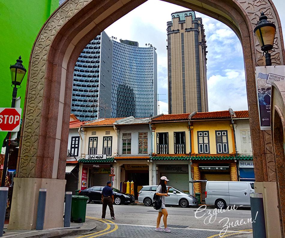 На фото Арабский район в Сингапуре