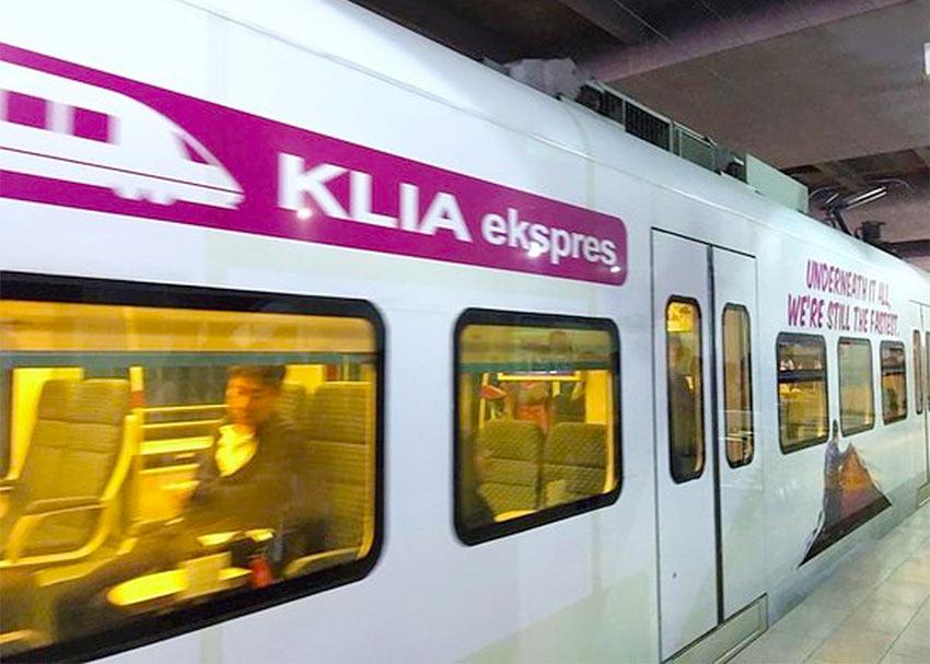 Поезд из аэропорта Куала Лумпур