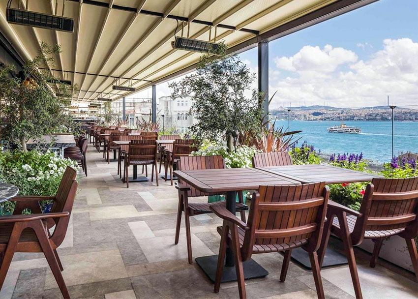 """Терраса с видом на Босфор, отель """"Новотель"""" в Стамбуле"""