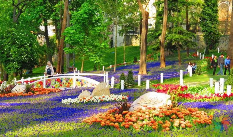 Фестиваль тюльпанов в Гюльхане Парке в Стамбуле