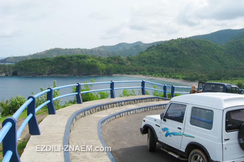 На машине по острову Ломбок, Индонезия