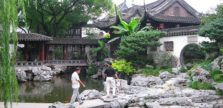 Китай. Достопримечательности Шанхая: сад Юй Юань
