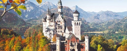 Замок Нойшванштайн в Германии.