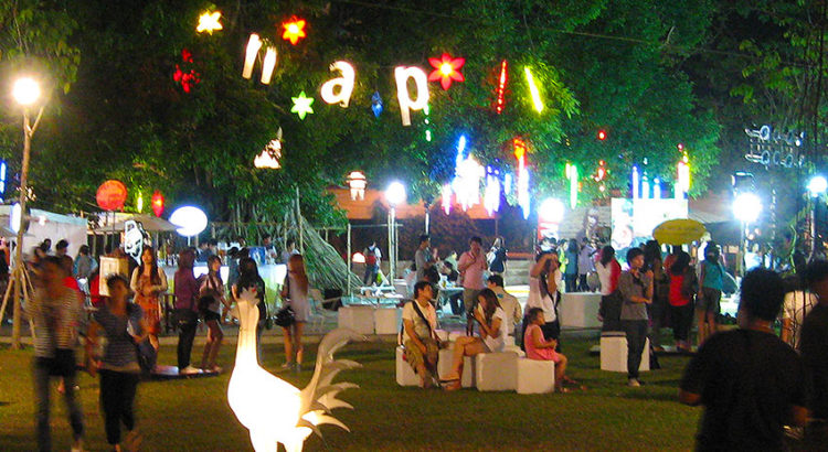 Тайланд. Арт-фестиваль на Ниммане. Вечерняя тусовка