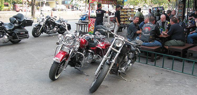 Тайланд. Мотобайкеры в Чианг-Мае