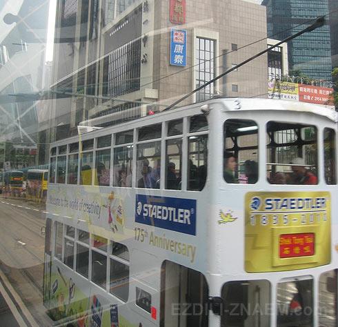 Фото Гонконга. Двухэтажные трамваи
