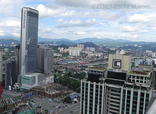 Куала. Место для фотосессии на крыше небоскреба.