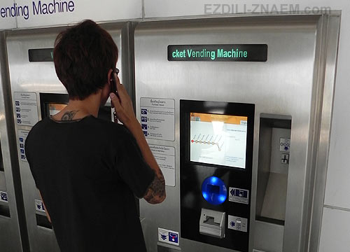Покупка билетов на метро из аэропорта в Бангкок