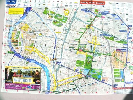 Бесплатная карта Бангкока