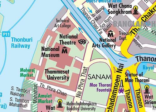 Интерактивная карта Бангкока