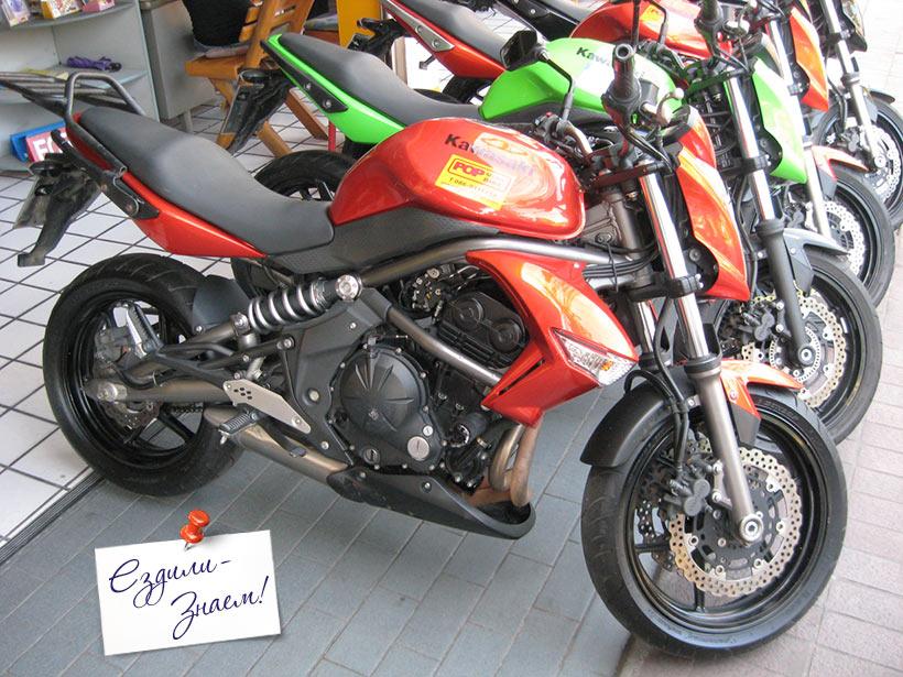 Мотоцикл Kawasaki 350 в Таиланде