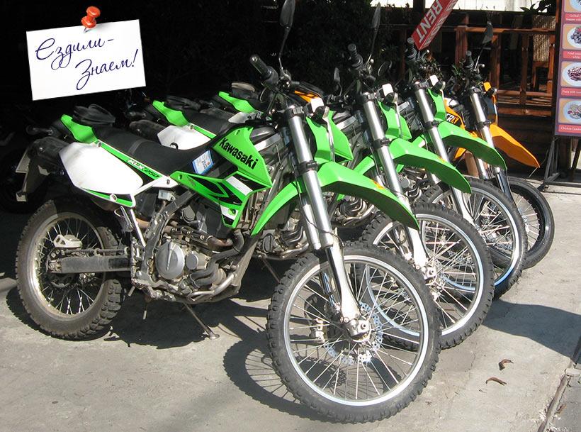 внедорожный мотоцикл Кавасаки