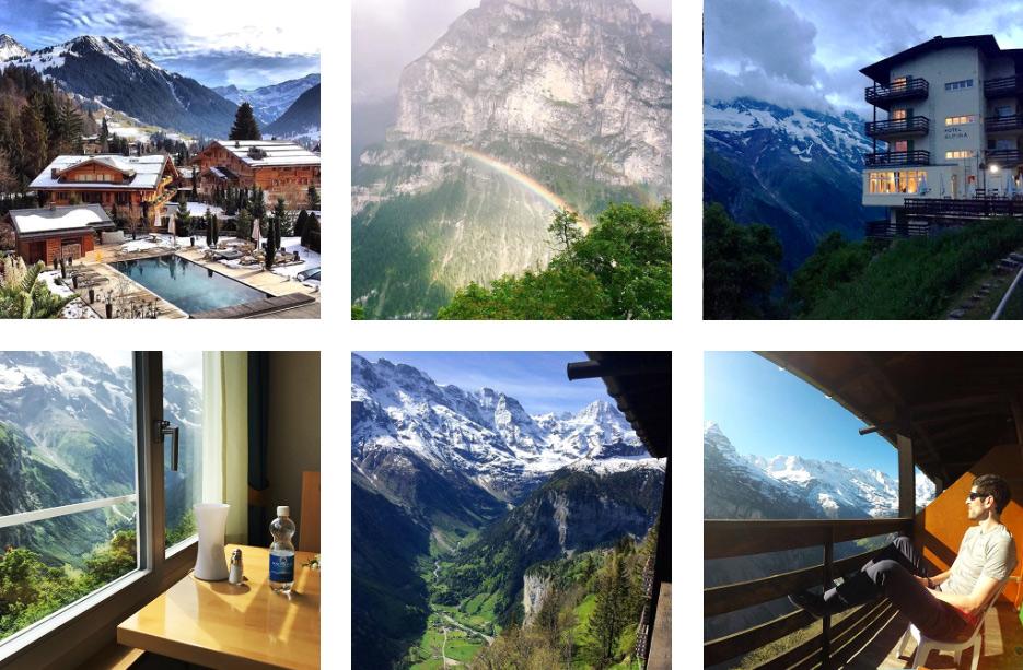 Отель с лучшим видом на горы в Швейцарии