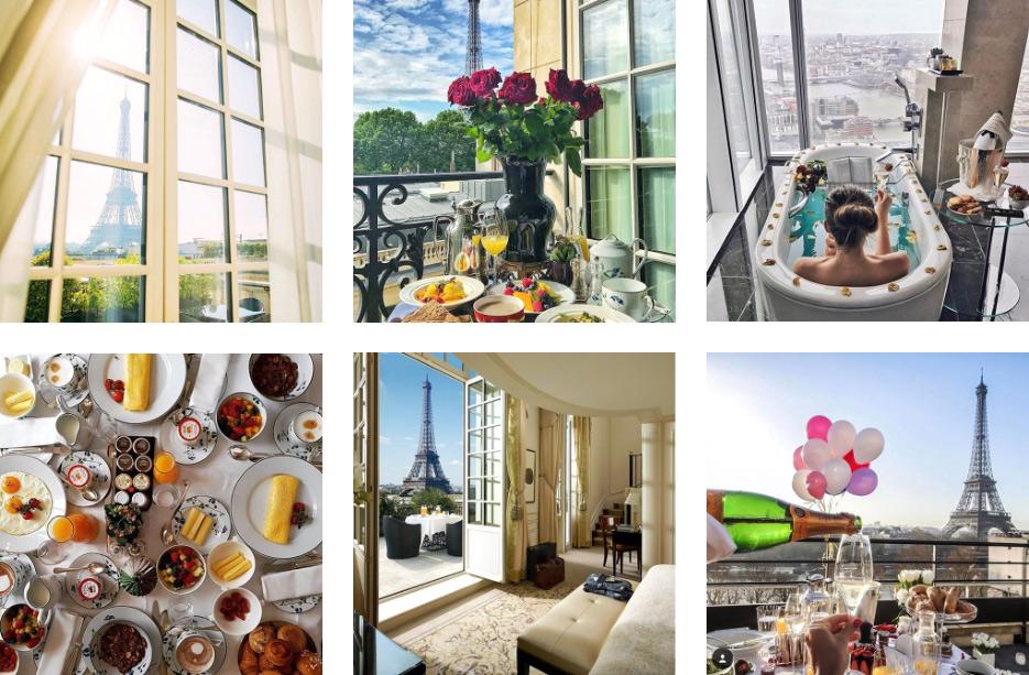 Вид из отеля Shangri-La Paris