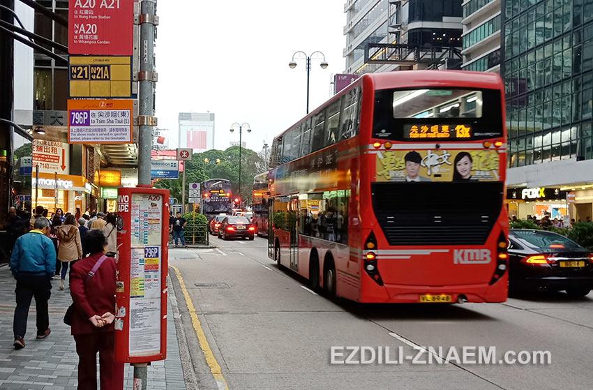 Поездка на двухэтажном автобусе - must do для туриста в Гонконге