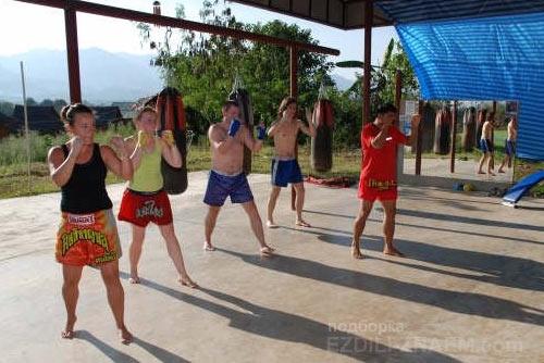 Тренировки муай тай в Тайланде