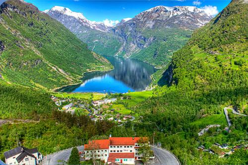 Отель в Норвегии с лучшим видом из окна