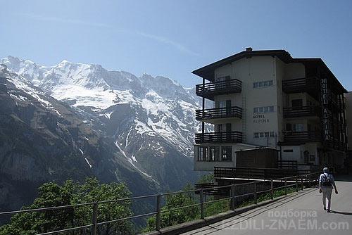 Отель Швейцарии с лучшим видом из окна