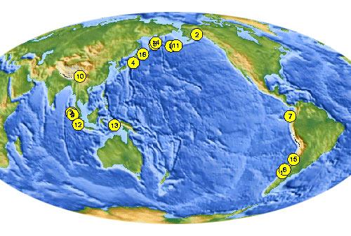 самые сильные землетрясения нашего века