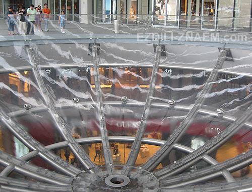 Сингапур. Марина Бэй. Перевернутый фонтан - чаша