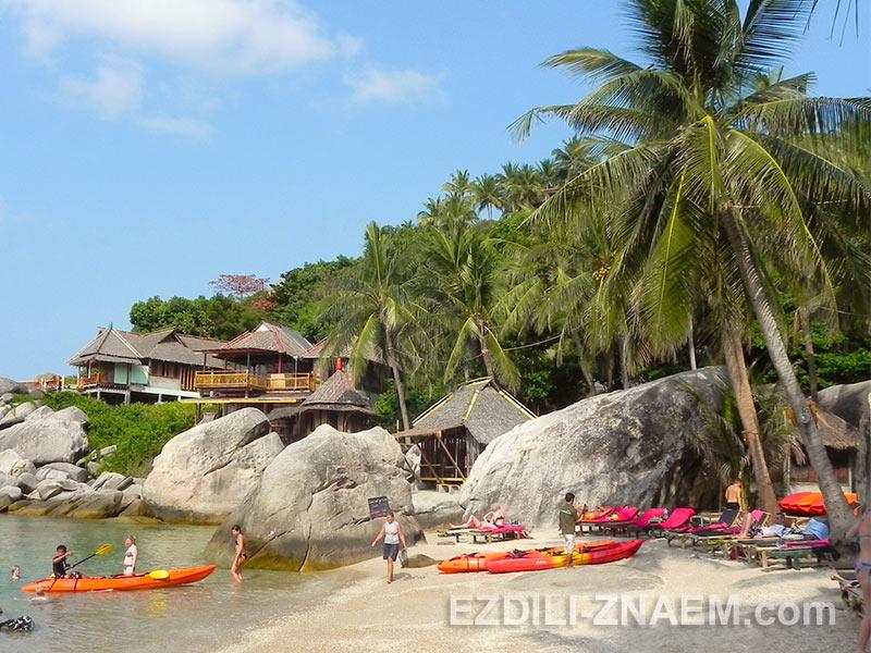 частный пляж Jansom Bay на острове Ко Тао