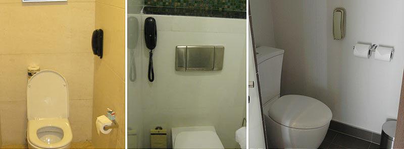 Телефоны в туалетах номеров отелей