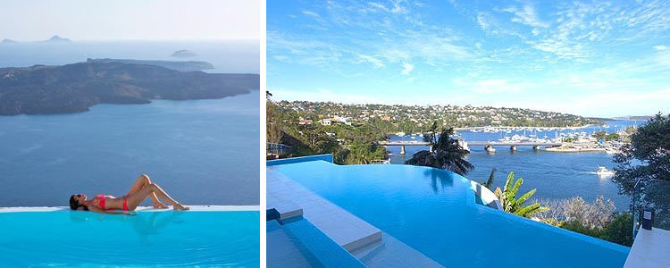 удивительный бассейн в отеле Марина Сэндс