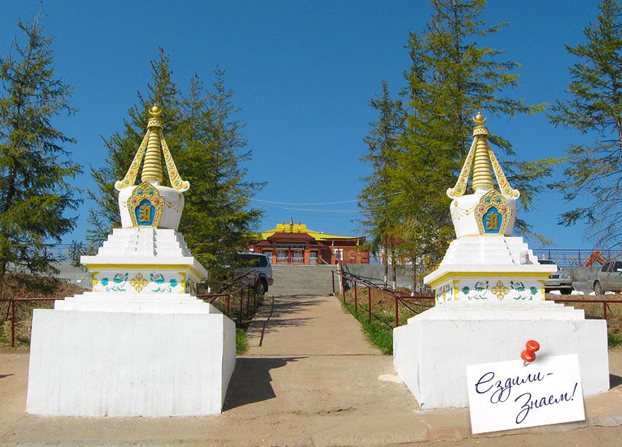 """буддийские ступы в Дацане """"Рингпоче Багша"""". Улан-Удэ"""
