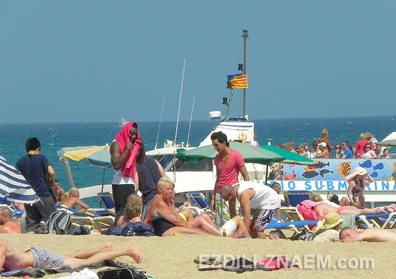 отдых на пляже Ллорет де Мар в Испании