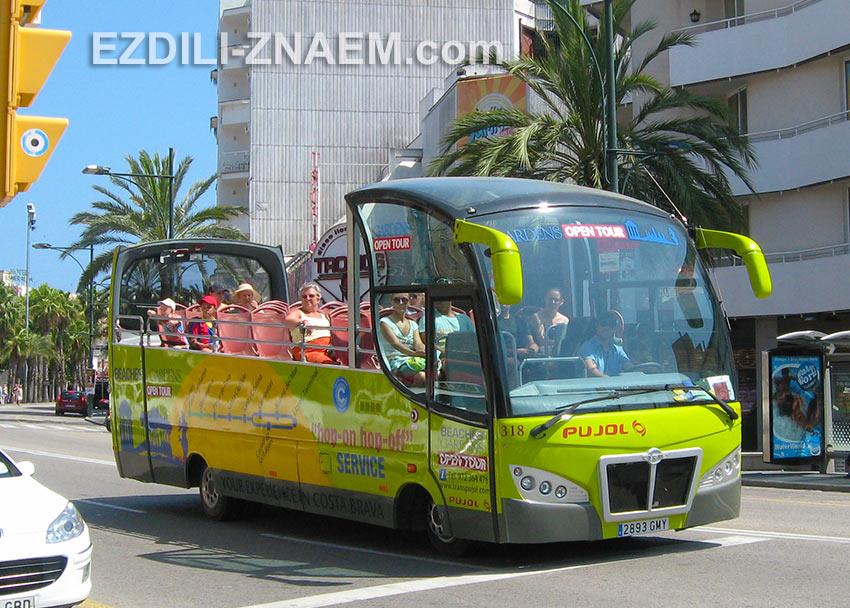 Тур по Ллорет де Мар на открытом автобусе