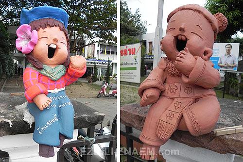 Дизайнерские и прикольные керамические фигурки. Тайланд